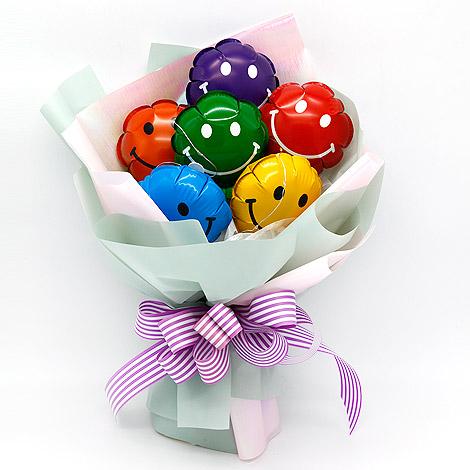 花店送花 閃亮微笑氣球花束 汽球花束 花束包裝 花店送花
