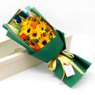 畢業送禮物 青春飛揚向日葵香皂花束