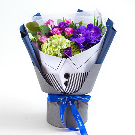 花店推薦 屬於男士的花束 百分百傳心意 台北花店推薦