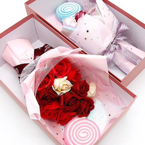 情人節花束 甜蜜蜜棒棒糖香皂花束 玫瑰花香皂花束 情人節花束 棒棒糖花束