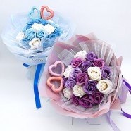 網路花店 同心香皂玫瑰花束22朵