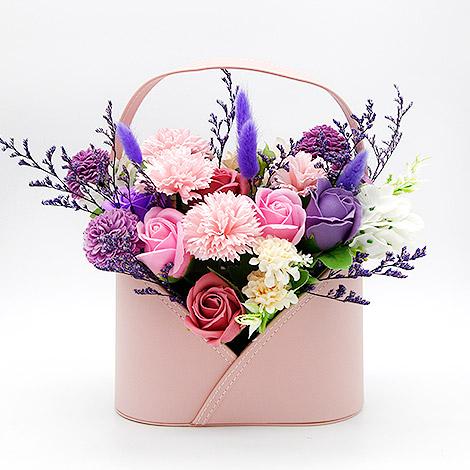 母親節禮物排行 康乃馨盆花 高質感皮質花器