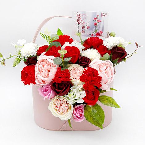 母親節代客送花 康乃馨香皂盆花