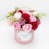 獨家推薦母親節禮物  幸福康乃馨香皂盆花