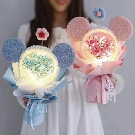 創意滿天星乾燥花 閃亮泡泡球花束