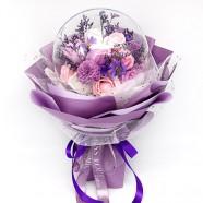 泡泡球香皂花花束-紫色