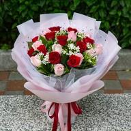 浪漫告白 雙色玫瑰花束 全省配送