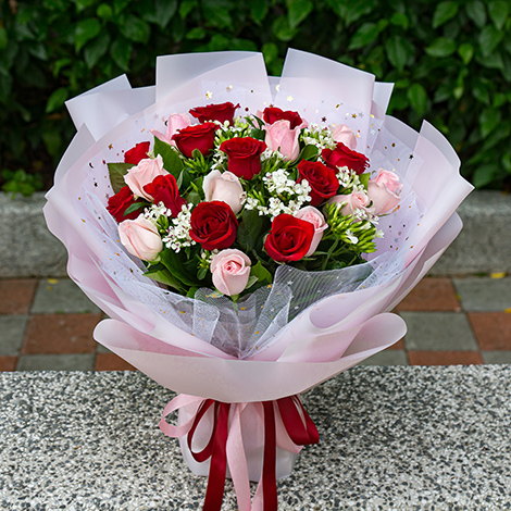 浪漫告白 雙色玫瑰花束 全省配送 玫瑰花束 浪漫告白