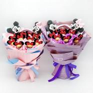 花店設計師喜歡 可愛卡通金莎花束