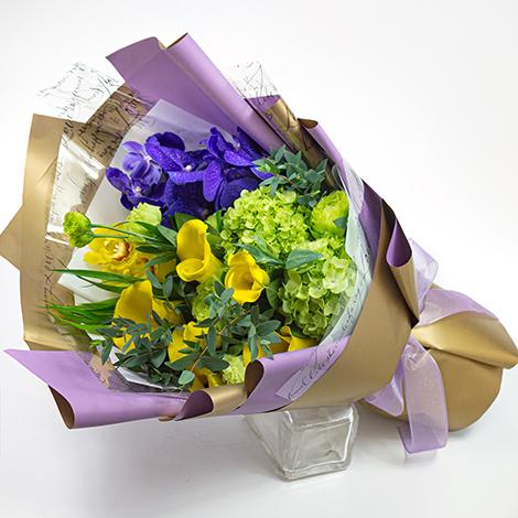 紫色浪漫 花店嚴選 海芋花束 花店 花束