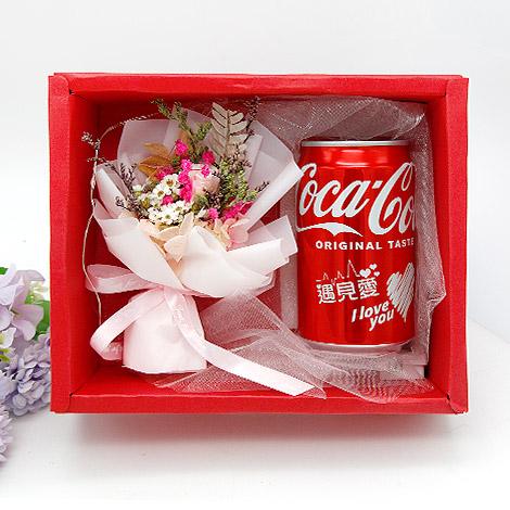 遇見愛情人禮物 永生花可樂禮盒