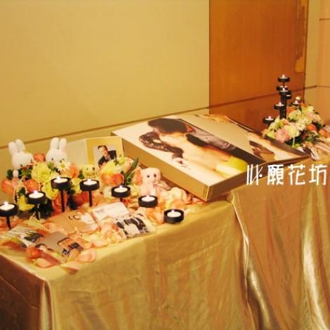 相本桌佈置 婚禮佈置 會場佈置 訂婚 相片區佈置